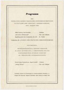 Programm des Landestreffens der vertriebenen Deutschen in Württemberg