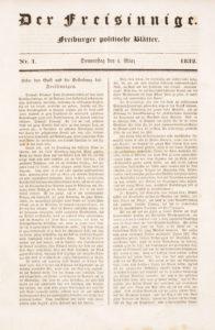 """""""Preßfreiheit"""", ein hohes Gut. Bereits 1832 kosteten die Badener die Früchte dieses Grundrechts."""