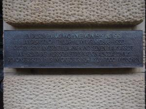 Gedenkplakette am Haus Silberburgstraße 187