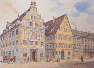 Ein Zentrum würrtembergischer Politik des 19. Jahrhunderts: Das Stuttgarter Ständehaus (Bildnachweis: Marbacher Literaturarchiv/Dt. Schillergesellschaft)